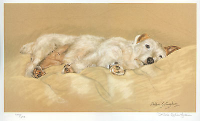 JACK RUSSELL TERRIER ROUGH HAIRED DOG ART LIMITED EDITION PRINT - Do Not Disturb