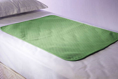 2xWASHABLE INCONTINENCE WATERPROOFED BED PAD PROTECTOR ALL EDGES COVERED 71x90CM