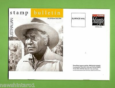 #d218. 2002  Stamp Bulletin Featuring  Albert Namatjira  On Cover