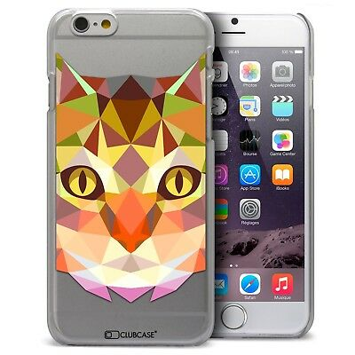 Coque Housse Etui Pour iPhone 6/6S 4.7 Polygon Animal Rigide Fin  Chat