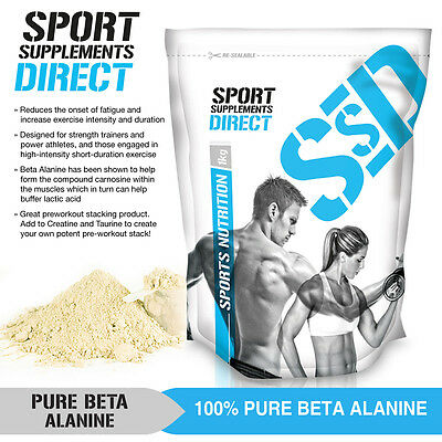 1Kg Pure Beta Alanine - Pharmaceutical Grade -2 X 500G - Pre Workout -Certified