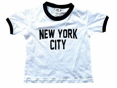 SCREENPRINTED! New York City Toddler John Lennon Ringer Baby Tee Beatles T-Shirt