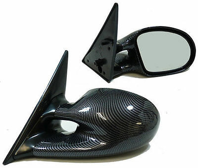 Carbon Fibre Look M3 Style Wing Mirrors For Bmw E46 Saloon Estate & Compact