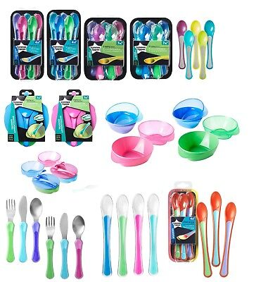 Tommee Tippee Feeding / Weaning Range: Spoons,Cutlery, Bowls - Flat P&P