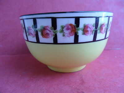 Cresecent - George Jones, Yellow - Rose Garland, small Open Sugar Bowl