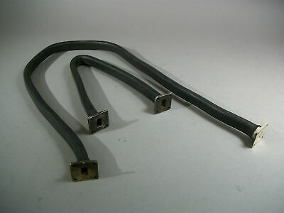 """Lot of 2 Microwave Engineering Corp (1)36""""/(1)18"""" Flexible Waveguides WR62 -USED"""