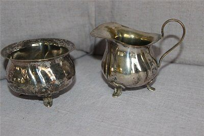 Zuckerdose und Milchkanne versilbert,silver plated sugar bowl and milk jug