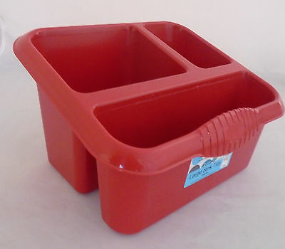 Wham Large Sink Tidy Drainer  Cutlery Drainer Storage Tub Chilli Red NEW