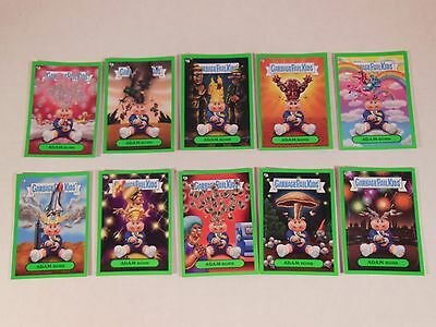 2011 GARBAGE PAIL KIDS Flashback Series 3 FB3 Complete GREEN Adam Mania Set WOW