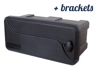 DAKEN Blackit I TOOL BOX 550x250x294 + BRACKETS Truck Storage Box / Lorry / Bus