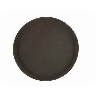 Winco TRH-14, 14-Inch Easy Hold Round Tray, Brown