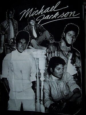 "Michael Jackson Flag Vintage 39"" x 54"" Black Wall Hanging 1980s Tapestry NEW"