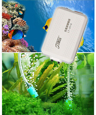 double output AC-DC air pump inside battery USB charge aquarium outdoor fishing