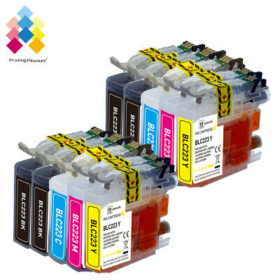 10 Ink Cartridge Replace For Brother LC223 DCP-J4120DW MFC-J4420DW Printer