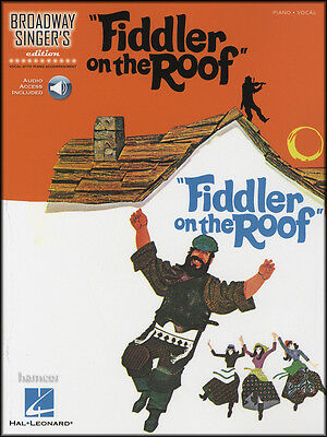 Fiddler On The Roof Broadway Singers Edition Piano Vocal Sheet Music Book/Audio