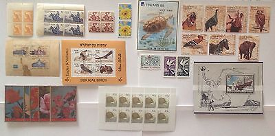 All The World Animals Lot Of 20 Stamps Mint Never Hinged Mnh**