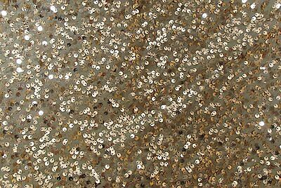 Extra Large Copper Sequin Round Tablecloth - 132 Inches - Christmas Table (DA39)