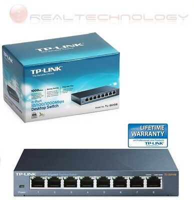SWITCH LAN ETHERNET 8 PORTE GIGABIT RJ45 1000 Mbps TP-LINK TL-SG108