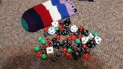 Large Bag Of D&d Gaming Dice - Pouch Included