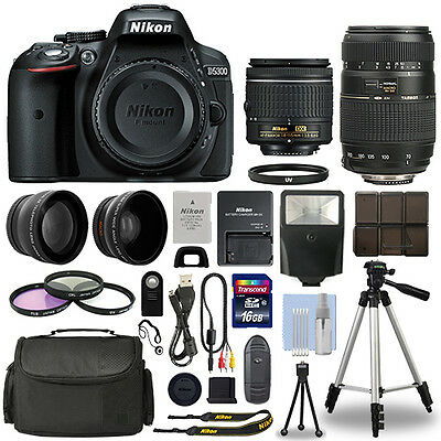Nikon D5300 Digital SLR Camera + 16GB Multi Lens Bundle: 18-55mm + 70-300mm