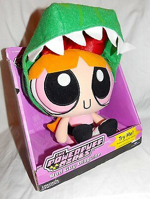 Powerpuff GirlsTalkin Blossom Bad Guy Disguise Doll & Dinosaur Costume NIB