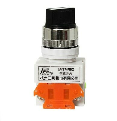 3 Position 2NO Momentary Select Selector Switch LAY37-20X33 22mm install hole