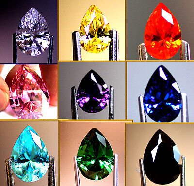 Pear Cut Cubic Zirconia Colour & Size Choice AAAAA CZ