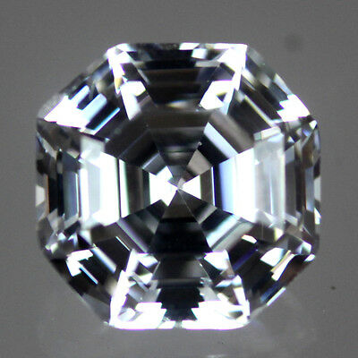 AAA White/Clear Big Corner Asscher Cut Cubic Zirconia CZ 9.5mm & 9mm Size Choice
