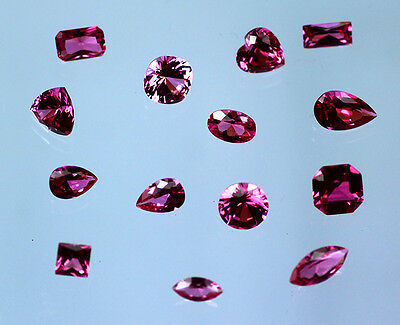 Lab Created Ruby Hot Pink Choice of Cut & Size 2mm-20mm