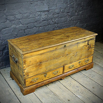 19th century Waxed blanked box mule chest With Front Drawers (£365 Ex VAT)