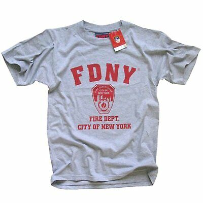 FDNY Officially Licensed Gray Crewneck New York Fire Department Athletic Tee