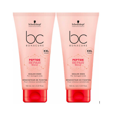 Schwarzkopf BC BONACURE  Repair Rescue Sealed Ends 150ml Jumbo Size XXL Duo Pack