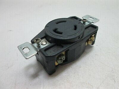 Cooper L6-20R Twist Lock Receptacle, NEMA L6-20, Rating: 20A 250V