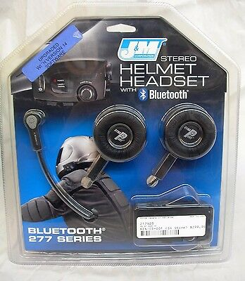 J&m 277 Series Bluetooth Communication Headset For 3/4 Motorcycle Helmet