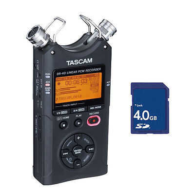 Tascam DR-40 V2 Version 2 Linear PCM recorder with 4GB SD Card NEW