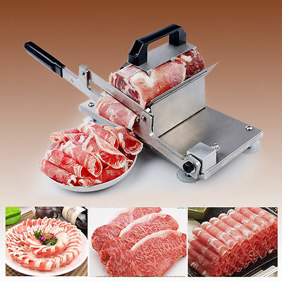 New Manual Control Meat Slicer Stainless Cutting Beef Mutton sheet Food Kitchen