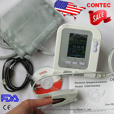 Digital Blood pressure monitor,Electronic Sphygmomanometer,NIBP,Spo2 probe,USA