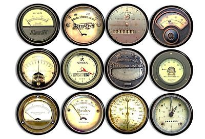 Industrial Meter Drawer Pull Steampunk Machine Gauge Garage Mancave Dresser Knob