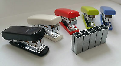 Kangaro Mini 10 Stapler With Staple Remover Hook + Free 2000 Staples Home Office