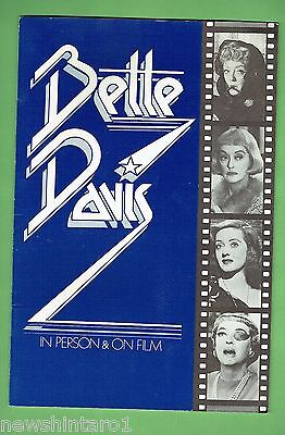 #T52. EARLY 1970s BETTE DAVIS  AUSTRALIAN  PRODUCTION BOOK