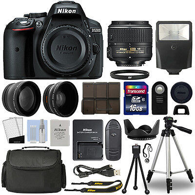 Nikon D5300 Digital SLR Camera + 18-55mm VR 3 Lens Kit + 16GB Top Value Bundle