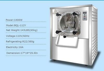 110V 1 Flavor Commercial Frozen Hard Ice Cream Machine Maker  Fast Shipping