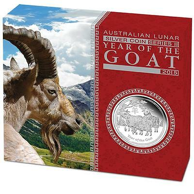 2015 $1 Year of the Goat 1oz Silver Proof Coin  Perth Mint