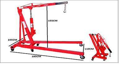 1.25T Workshop Garage Hydraulic Engine Hoist Foldable Crane PART NO= CR125F
