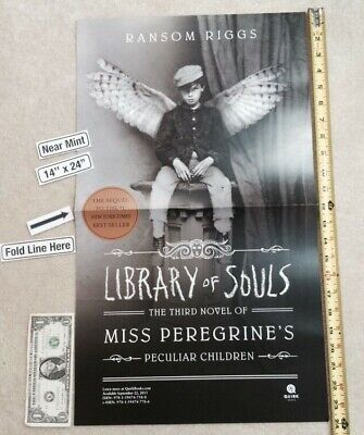 """Library of Souls 14"""" x 24"""" Poster NYCC Miss Peregrine's Peculiar Children Ransom"""