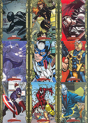 Marvel Masterpieces Series 1 2007 Upper Deck Gold Border Parallel Card Set