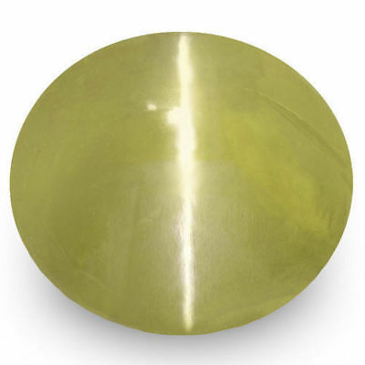 1.83-Carat IGI-Certified Ceylonese Chrysoberyl Cat's Eye with Strong Chatoyance
