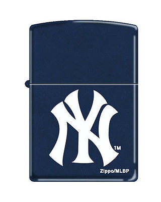 Zippo Windproof Lighter With New York Yankees Logo, New In Box