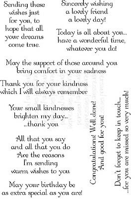 Lindsay Mason Designs THOUGHTFUL MESSAGES Clear Stamp Set - Endearing sentiments