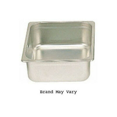"Steam-Table Pan, Stainless, Half Size (10-3/8"" x 12-3/4"") Size 2-1/2"" High"